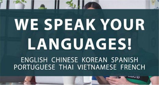 We speak your languages!
